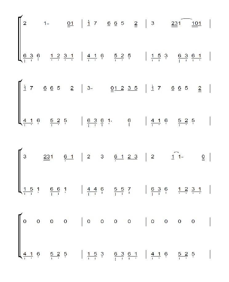 忧伤还是快乐钢琴谱简谱分享展示图片