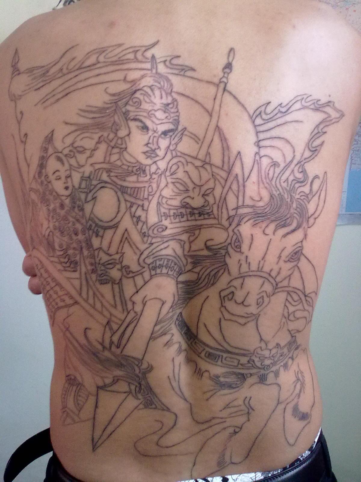 常山赵子龙(纹身图)-赵子龙后背纹身图片大全 求一个后背赵子龙纹