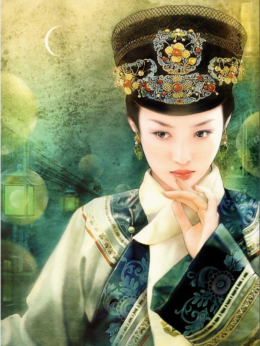 清朝皇后手绘图片_【有凤来仪】手绘满清美人