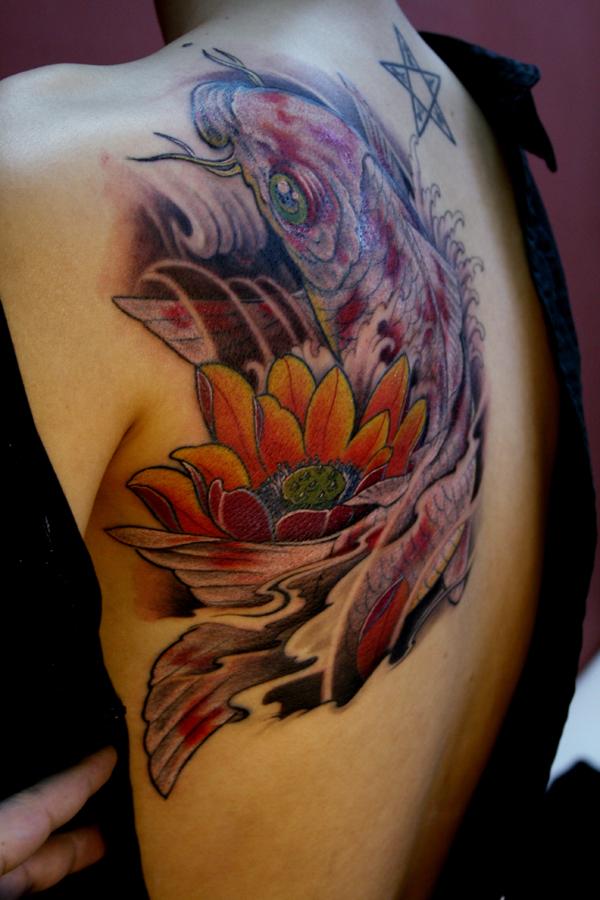 鱼纹身手臂男分享展示图片