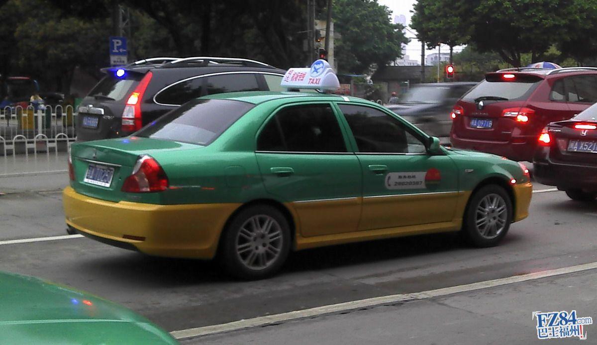 福州出现黄绿色新出租车?图片