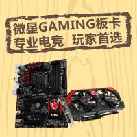微星GAMING板卡,专业电竞,玩家首选