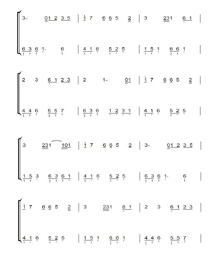 【忧伤还是快乐】图片 钢琴简谱 !双手的!图片
