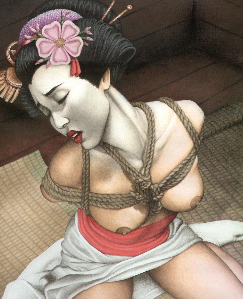 纹身手稿 日本艺妓图片