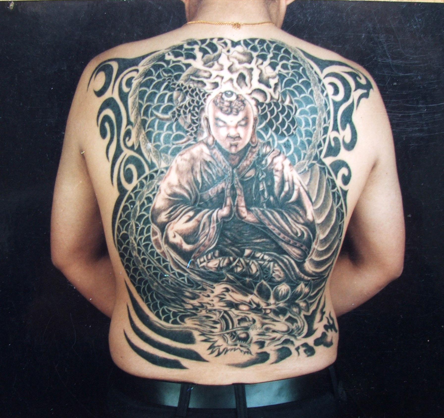 地藏王刺青 满背地藏菩萨刺青图片