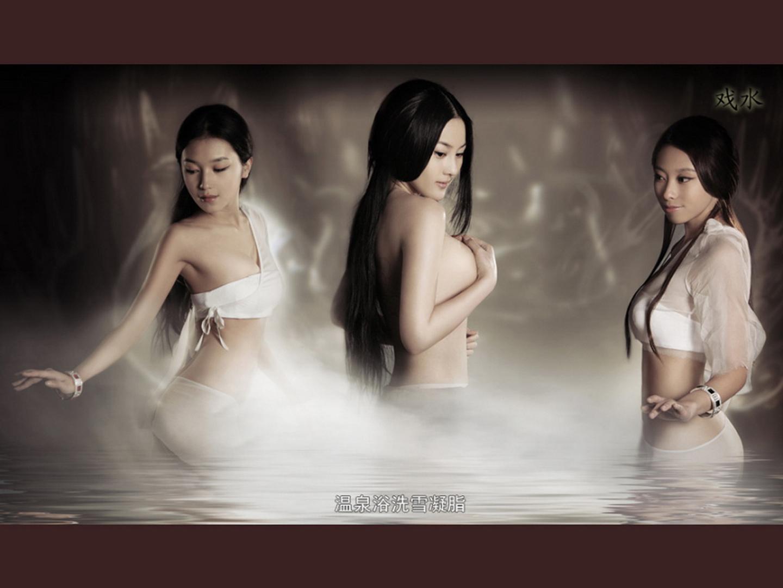 铜雀台裸身美女性感高清壁纸【分辨率1440x1080】