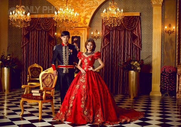 【唯一视觉】欧式宫廷贵族婚纱照欣赏图片