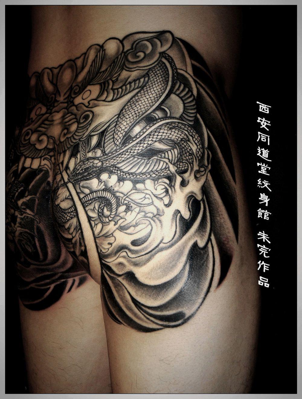 纹身臀部分享展示图片