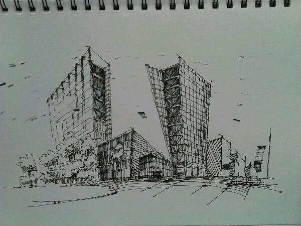 建筑速写_建筑学吧_百度贴吧图片