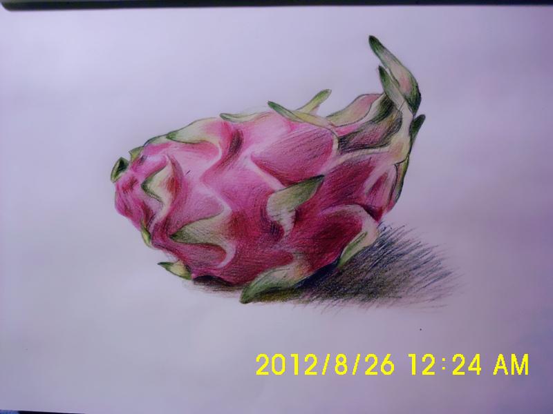 想吃火龙果了,所以就画了一个图片