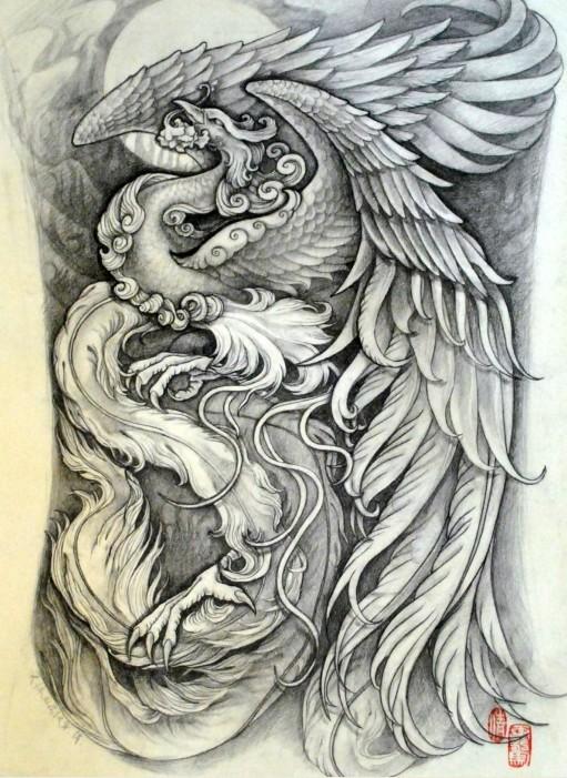 武字纹身手稿分享展示图片