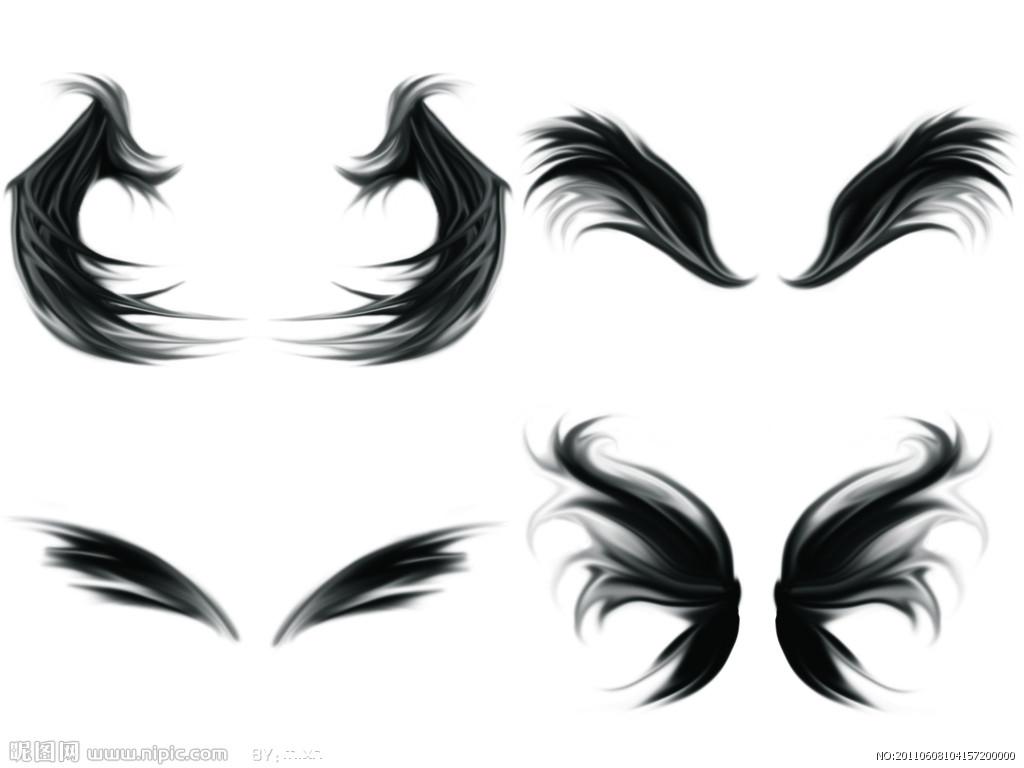 鸟儿素材纹身周边-商业公社图案中心翅膀景观设计图片