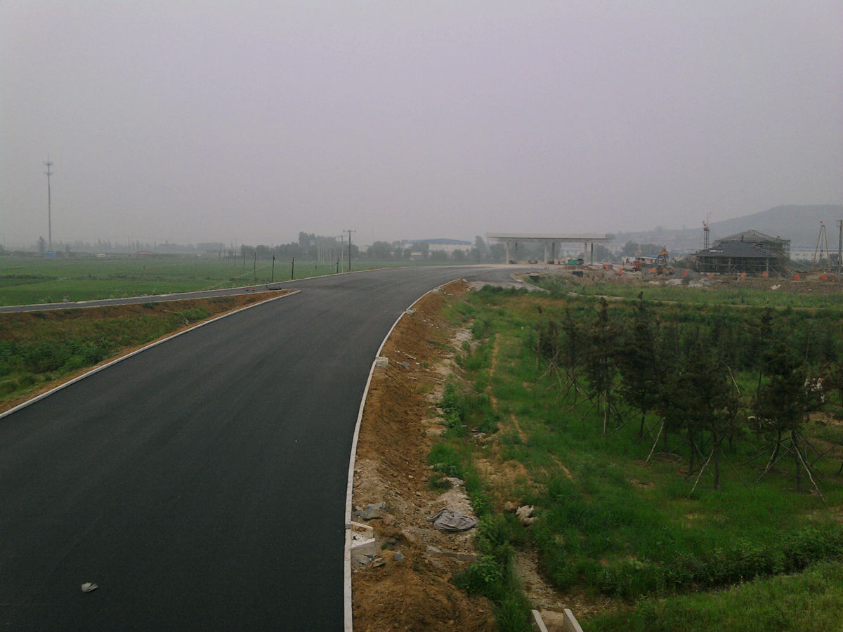 四车道路面跨京哈高速(沈四高速,g1)的互通立交桥.g91在上g1高清图片