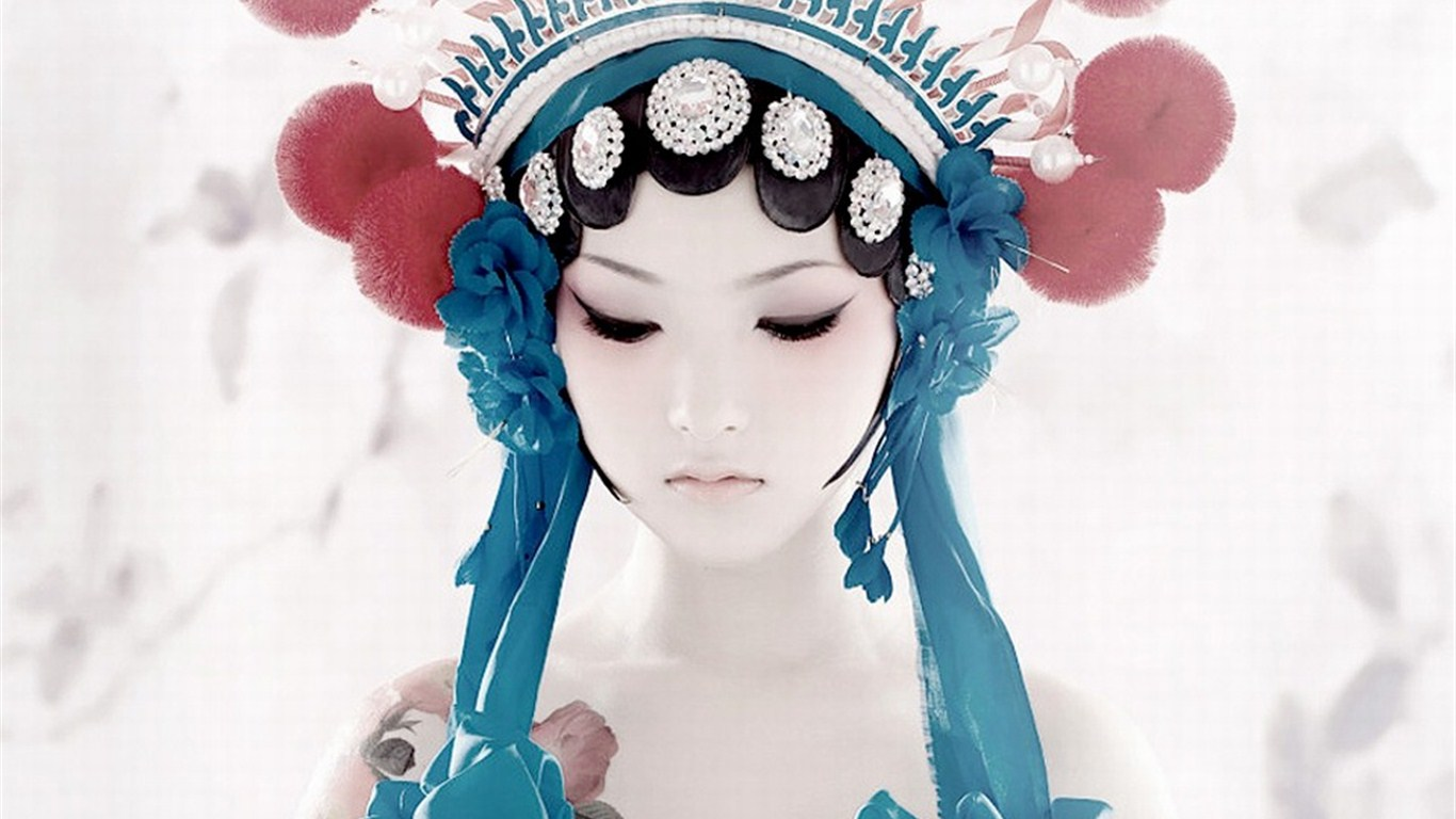 谁有那个京剧风格的美女壁纸