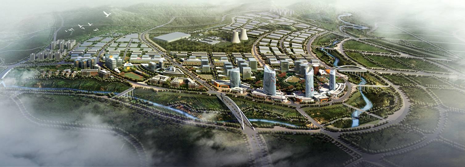 十堰西部新城建设二路概念规划图高清图片