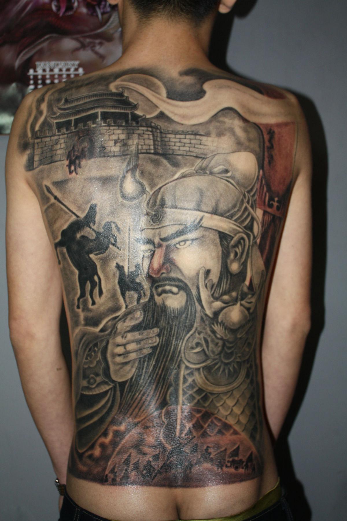 手稿纹身降龙罗汉纹身