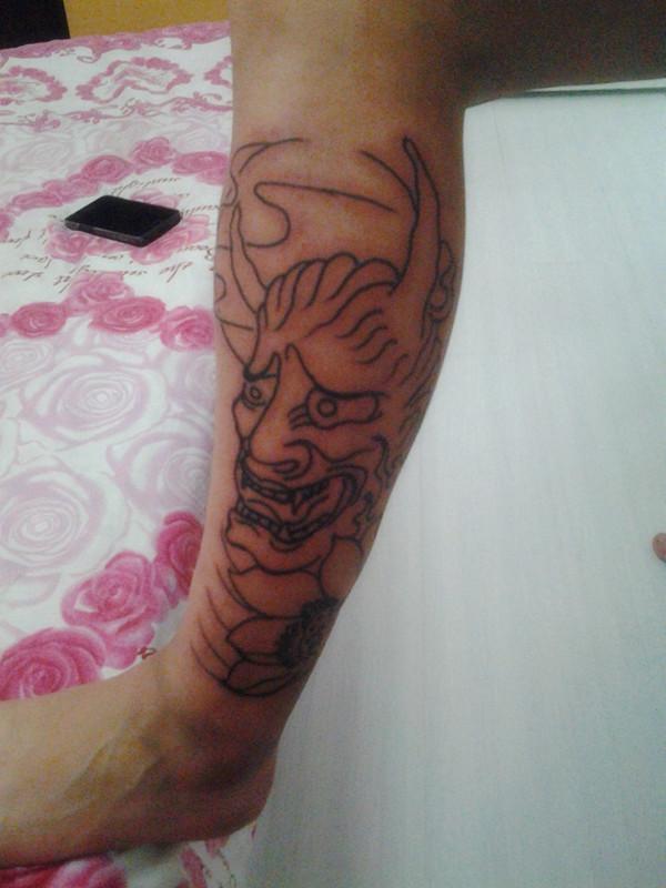 花臂纹身手稿女生分享展示图片