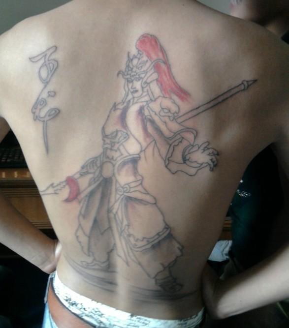 求一个后背赵子龙纹身.求逼真图片