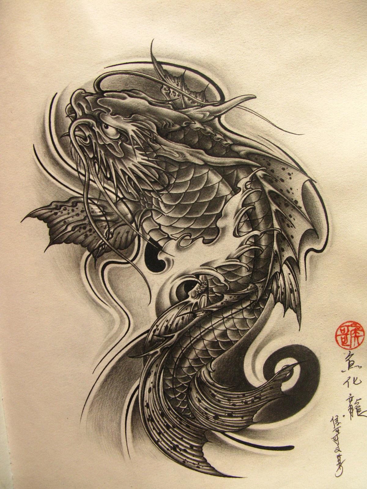 而纹身师画的各种手稿图片