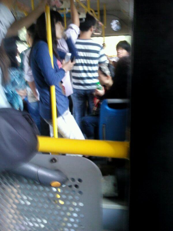 公交车上遇见一美女 没图我说个jb