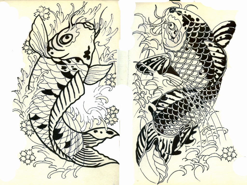 娃娃的手稿鲤鱼素描纹身素材图片北京室内设计谈单v娃娃图片