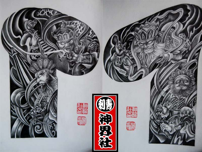 四大天王纹身图分享展示图片