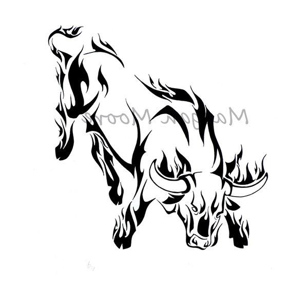 十二生肖牛纹身图案图片