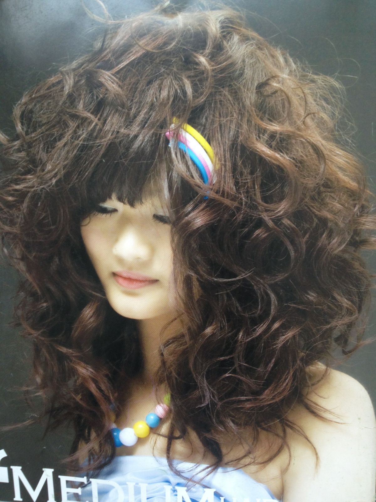 长发梨花烫发型图片 黑色长发梨花烫发型 长发中分梨花烫-发型屋图片