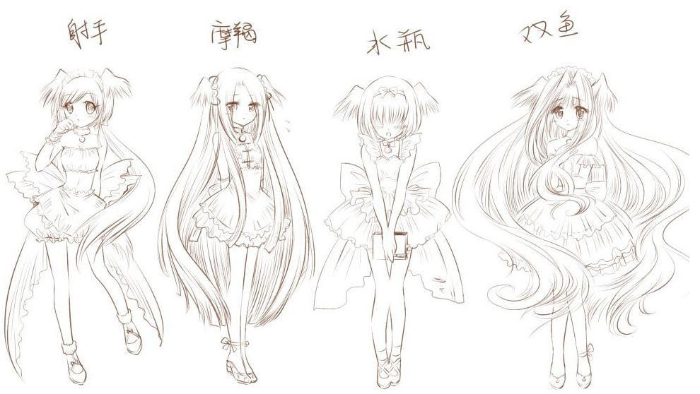 【星座】十二星座专属天使妹子图片