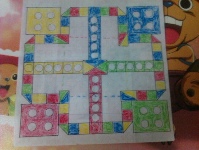 一张迷你飞行棋图纸图片