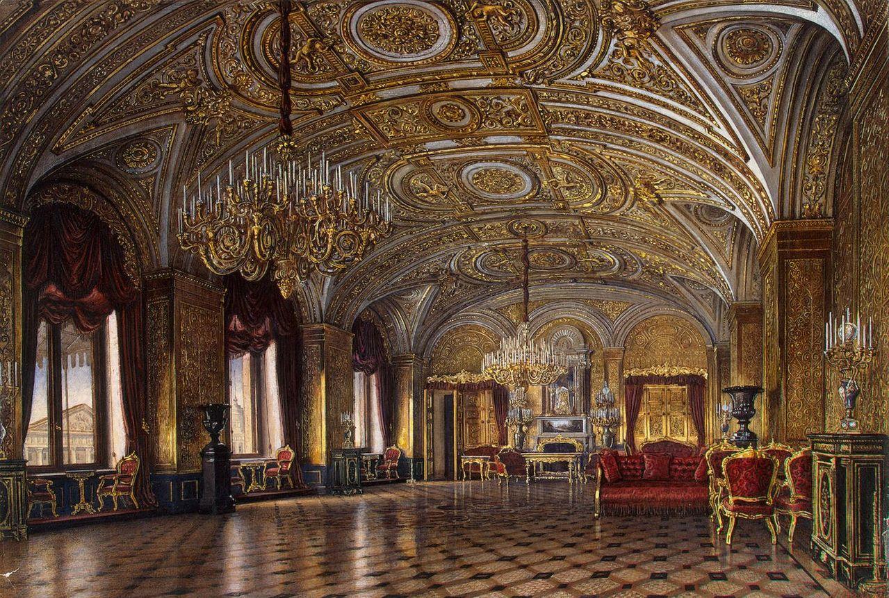 【图片】油画中的俄罗斯皇宫图片