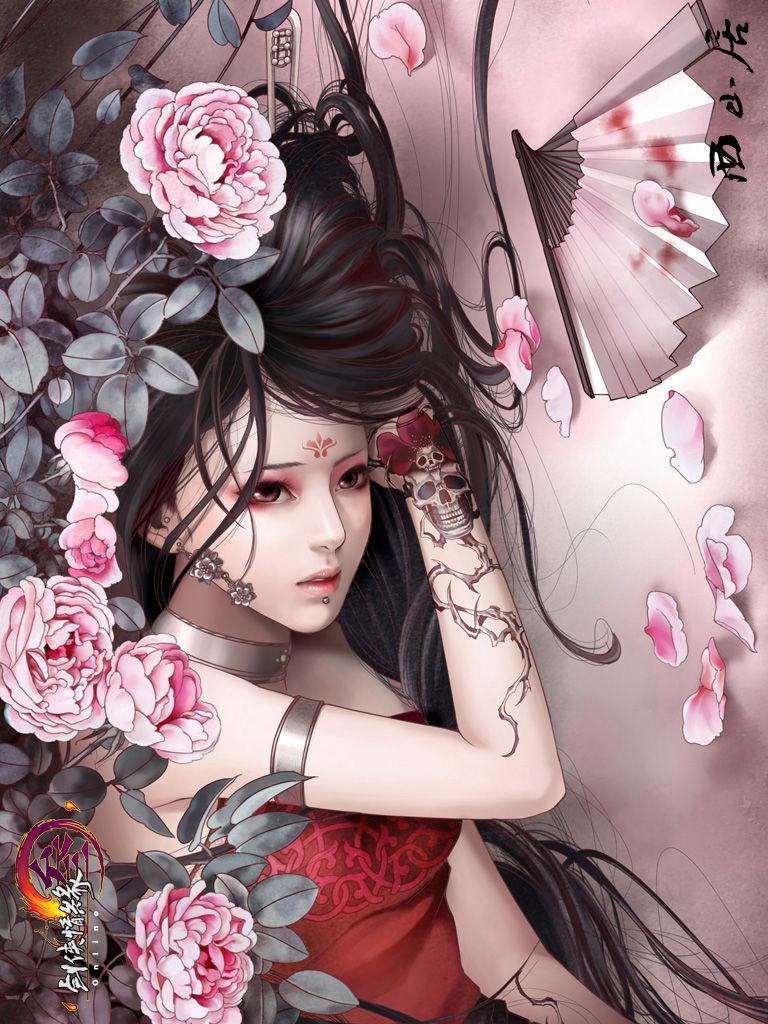 纹身古典美女图片展示图片