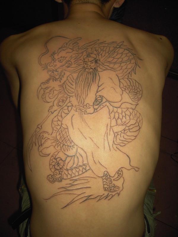 降龙纹身《《关公降龙纹身《《降龙纹身图片