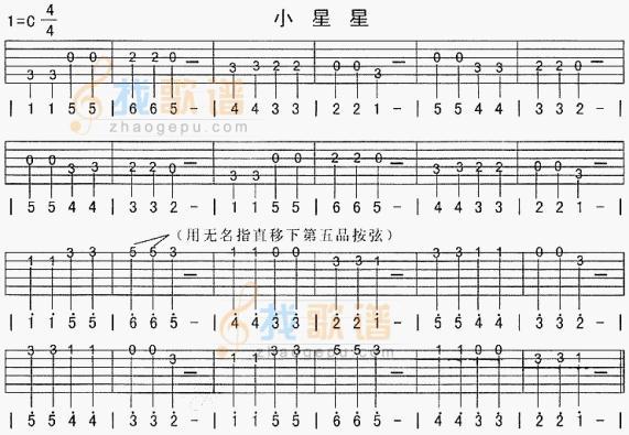 曲谱图片大全 多年以前 单音练习的吉他谱图片