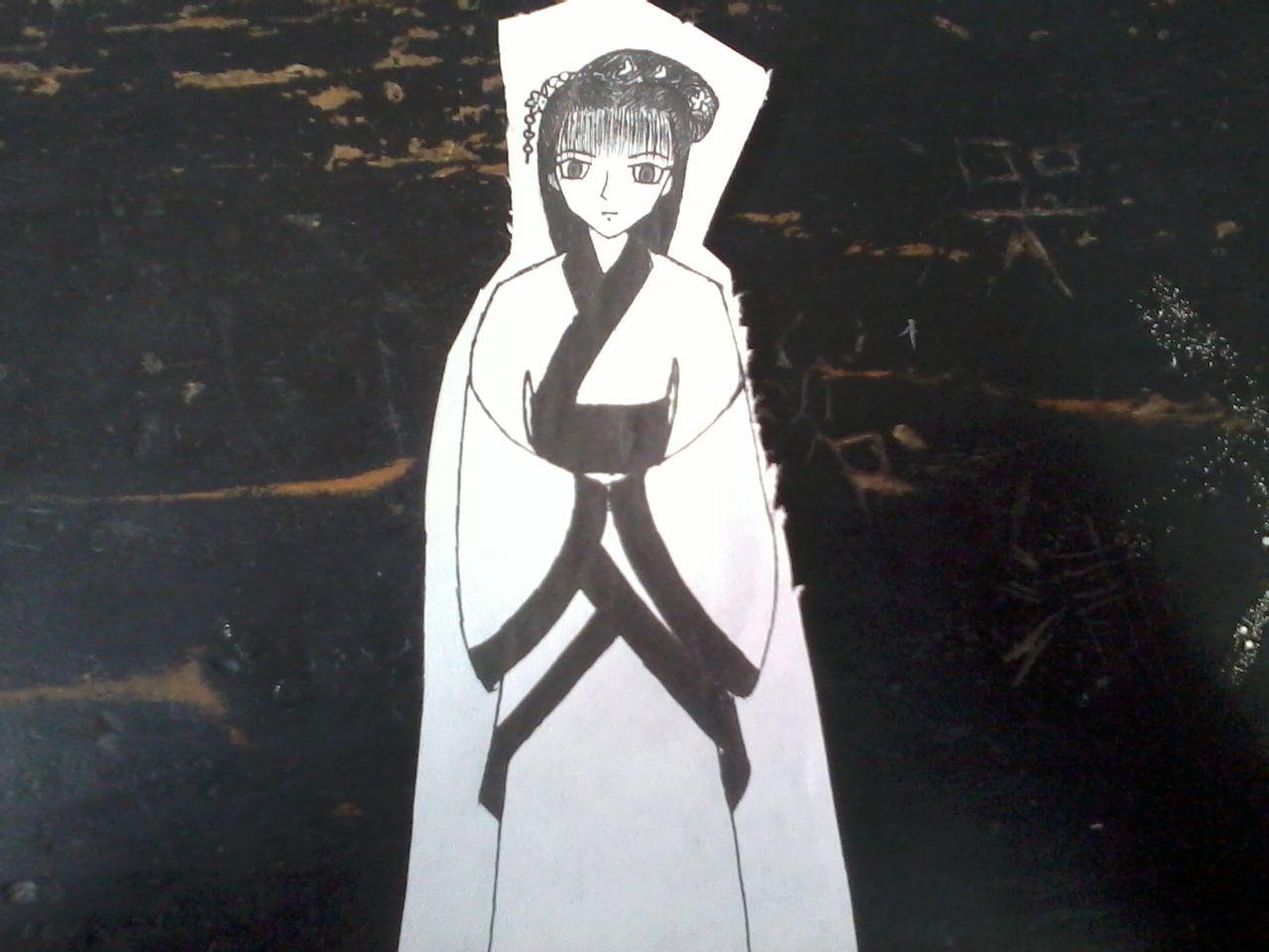 想画一个古代美女