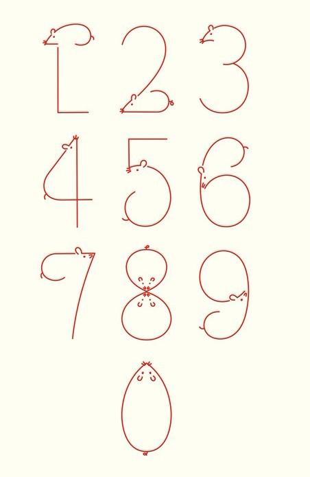 【求助】阿拉数字0-9的数字图形创意.涂鸦的速度发!图片