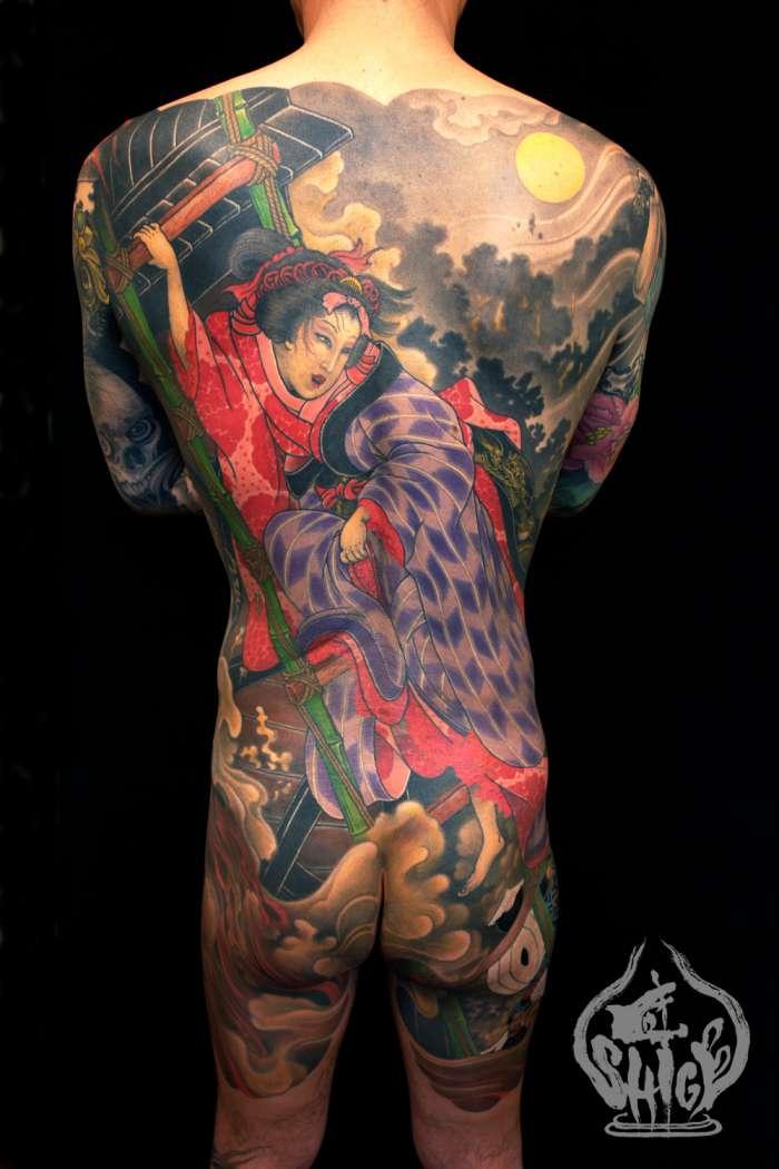 纹身欣赏――――日本黄炎刺青