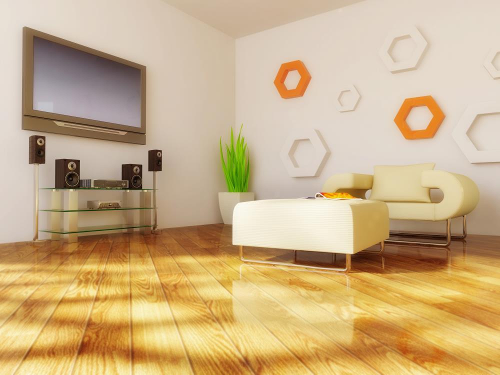 装修设计上花心思了.可以在电视背景墙上设计两个木条装饰,高清图片