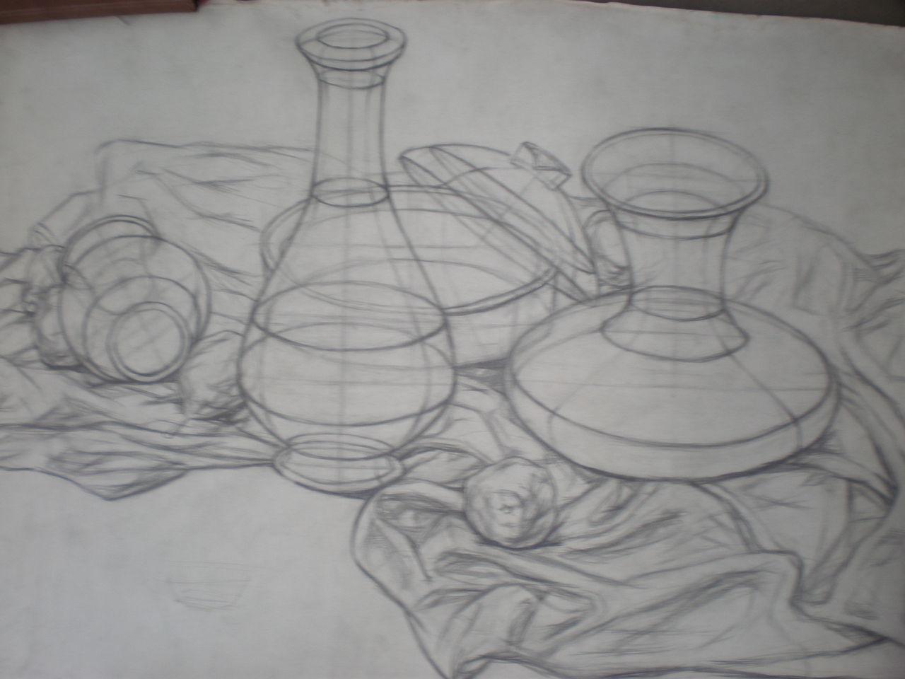 素描静物罐子画法 动漫素描眼睛的画法 风景素描树的画法 素描球体画图片