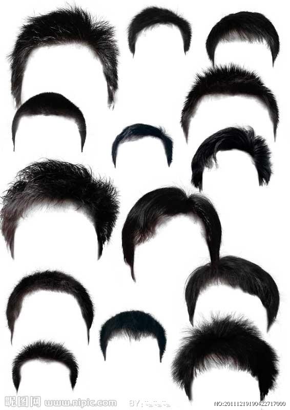 ps头发素材内容|ps头发素材版面设计图片
