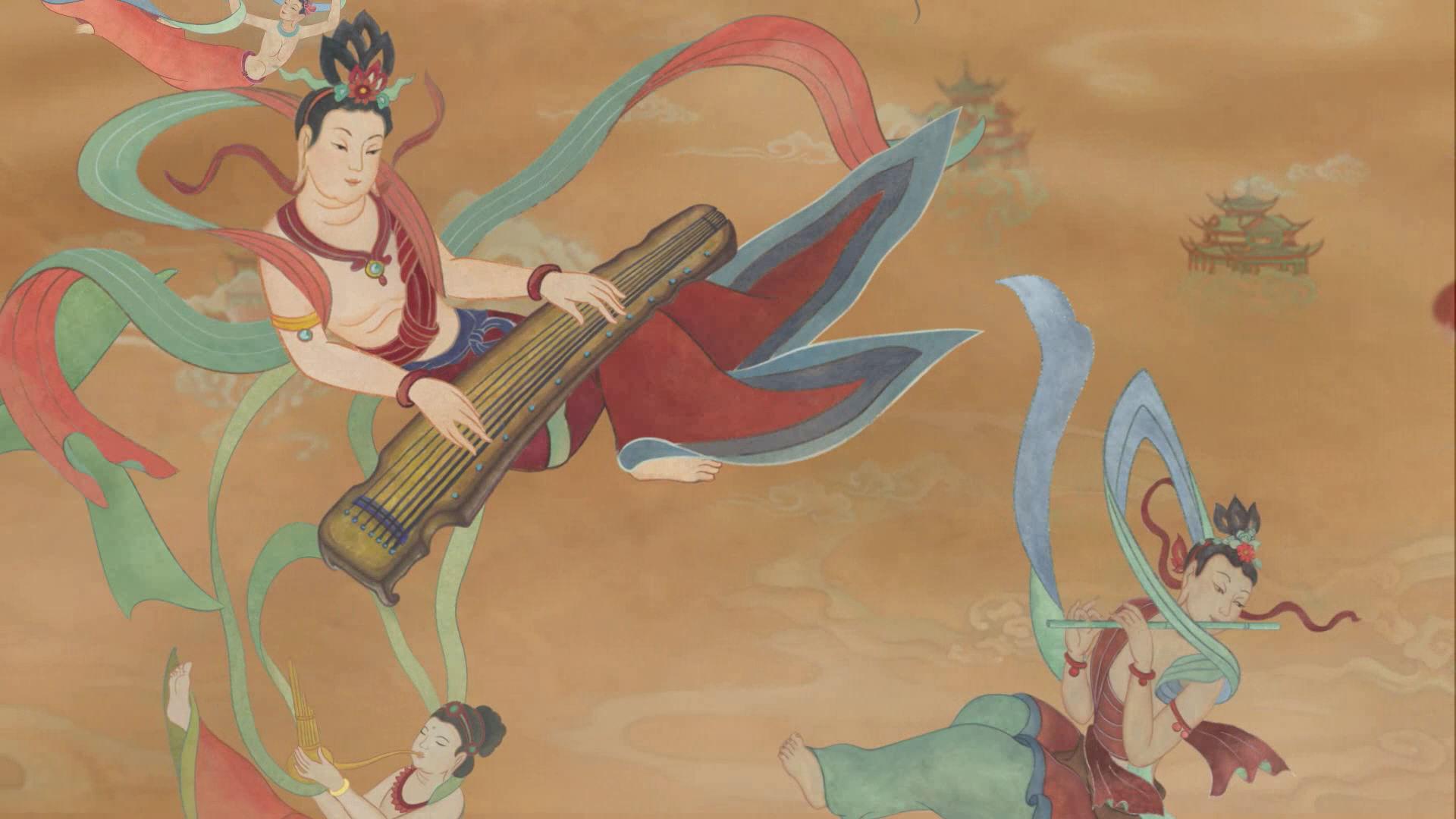 【佳作欣赏】飞天( flying apsaras)图片