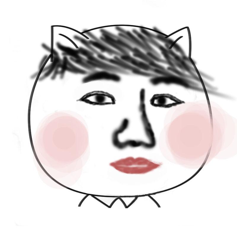 猥琐猫人脸qq表情包下载_表情大全图片