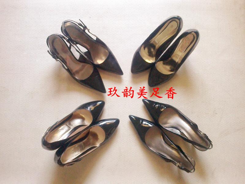 高跟鞋集合照片!黑色尖头高跟鞋集合照片! 美