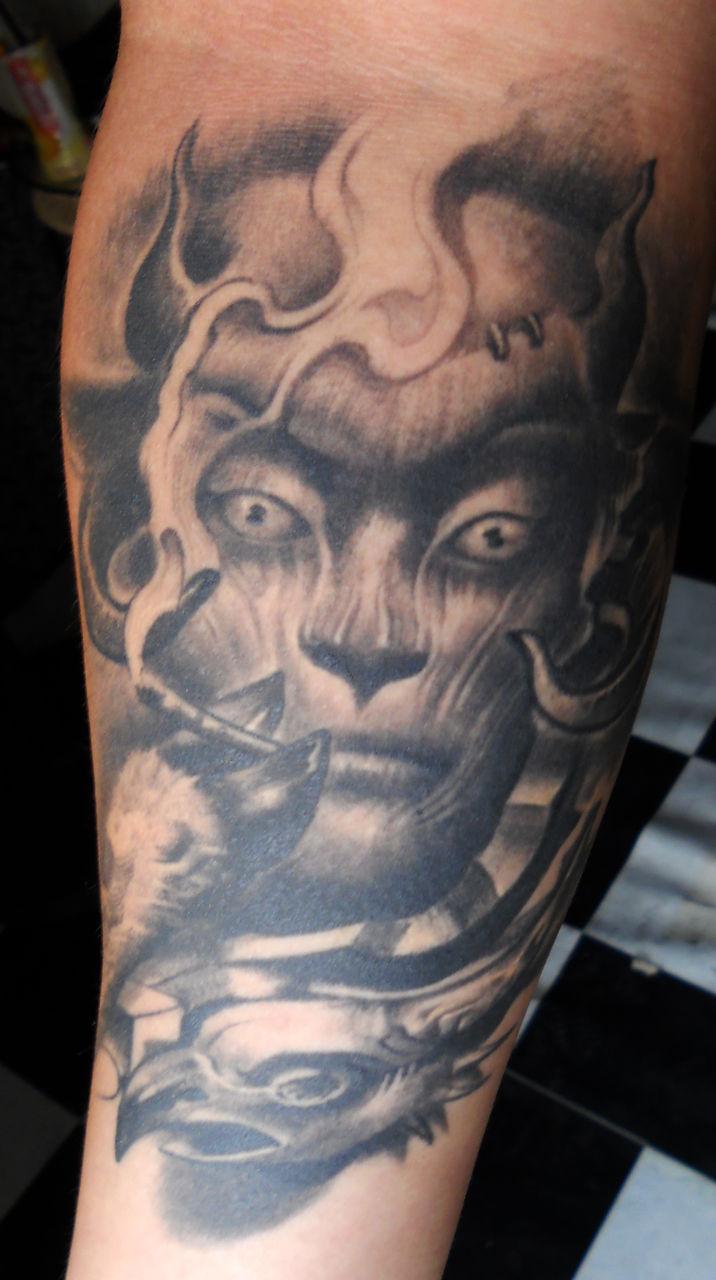 齐旭龙老师给我做的纹身图片图片
