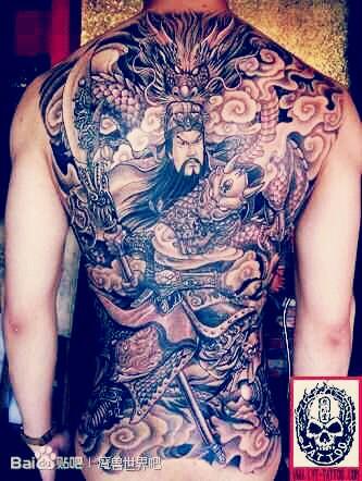 求魔吧 百度贴吧 男性后背权威超酷的一张满背般若纹身图案 男性背图片