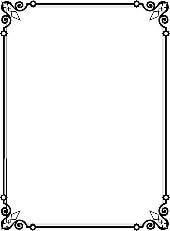 黑白手抄报花边素材图片