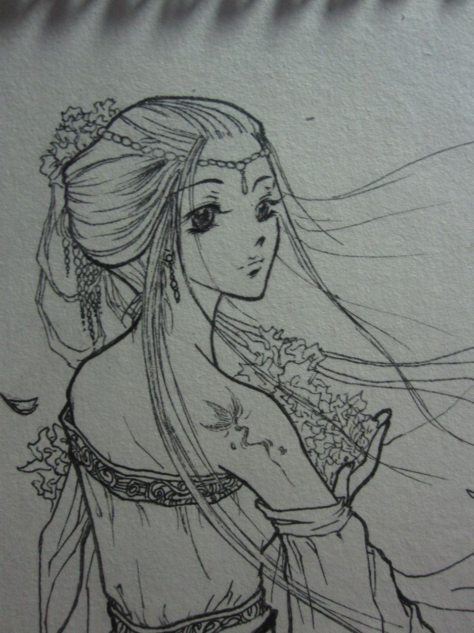 【求入会员】手绘古装女子图片