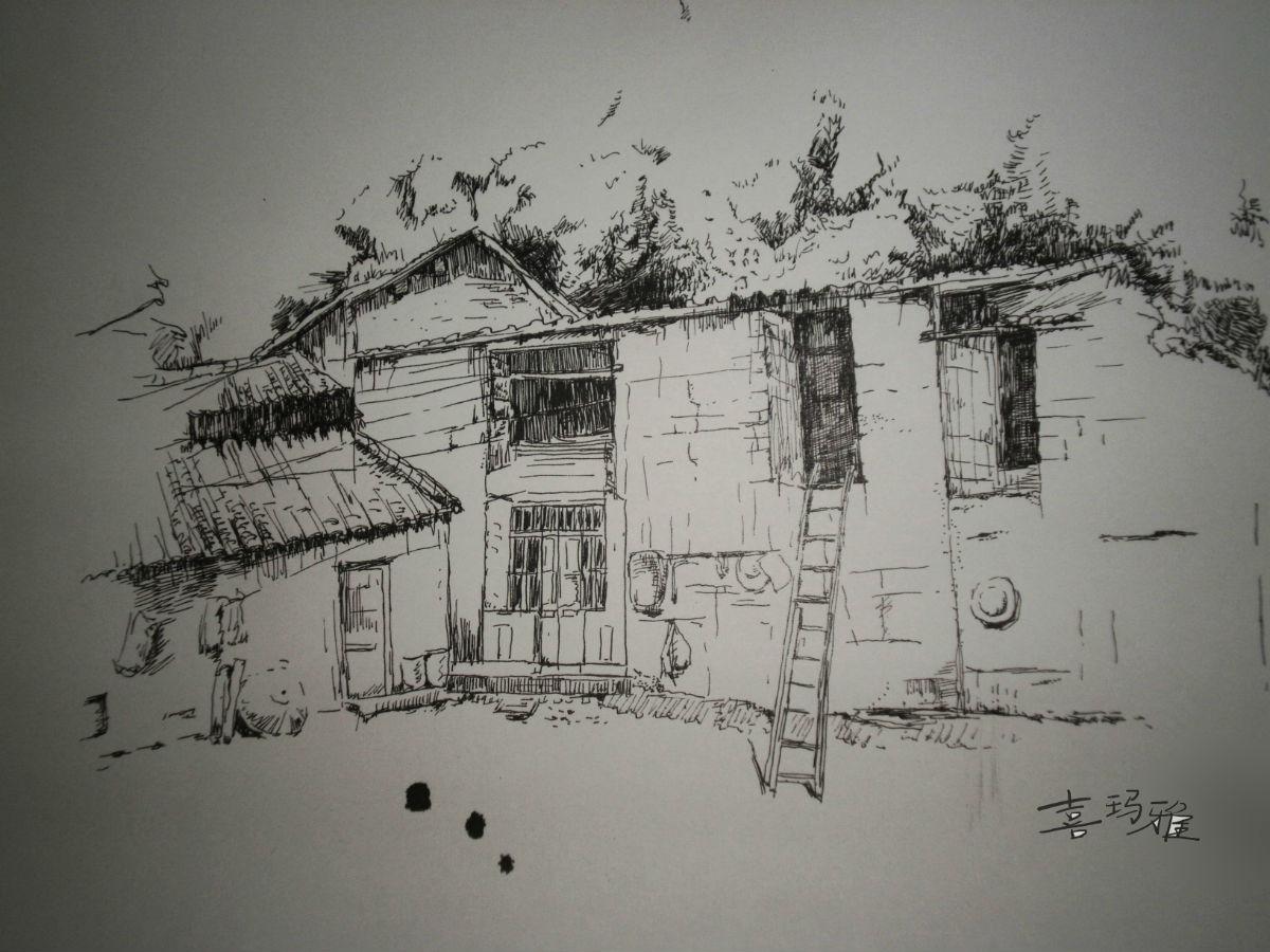 速写设计图__绘画书法 建筑速写-绘画教程网 8开速写1图片