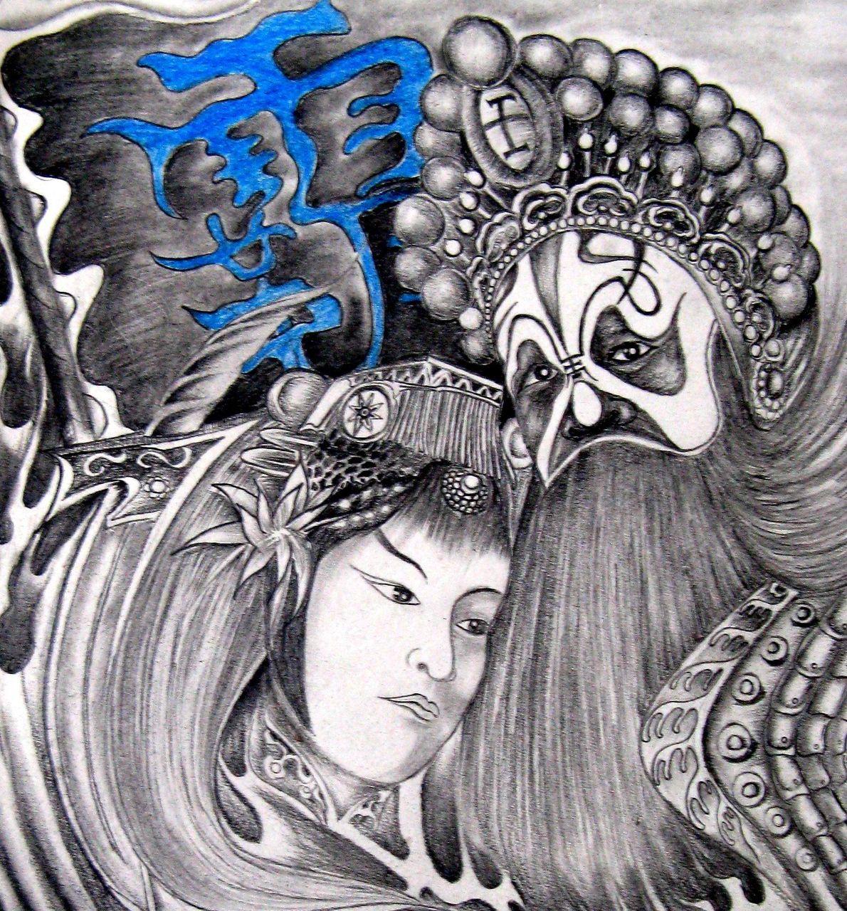 风云刺青--纹身原创手稿图片