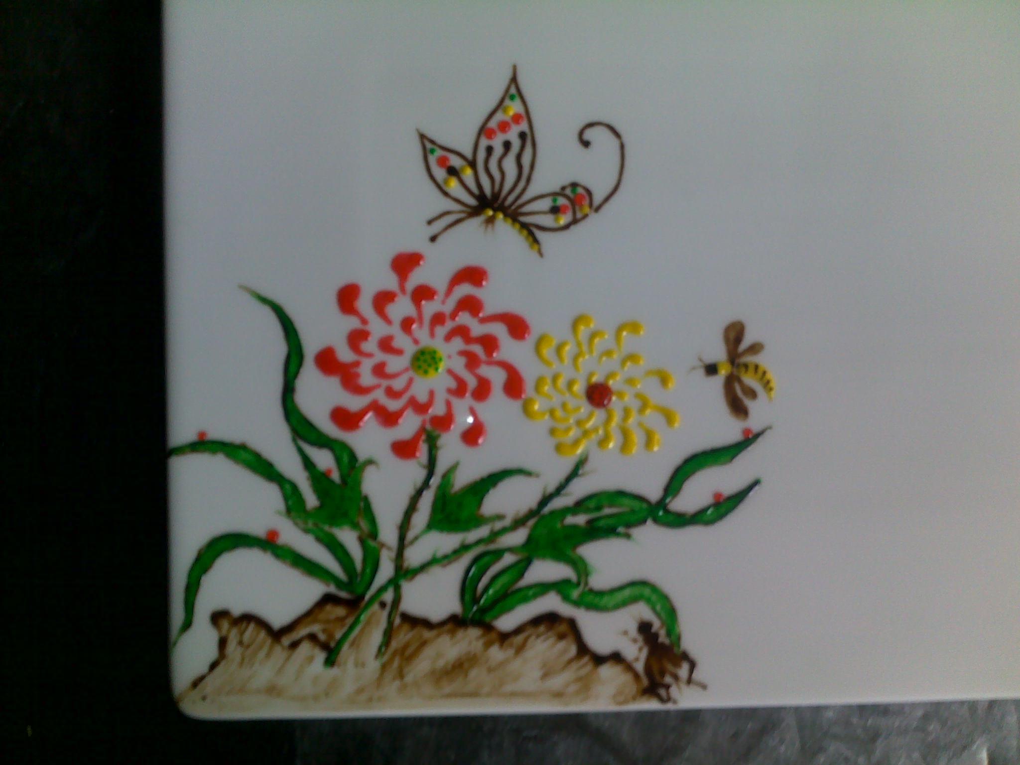 果酱画玫瑰花画法分享展示图片